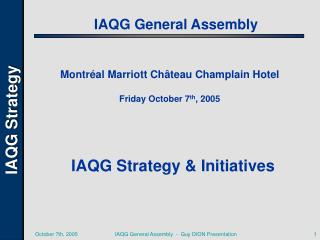 IAQG General Assembly