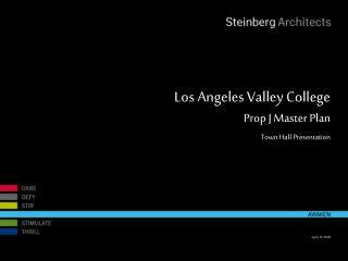 Los Angeles Valley College  Prop J Master Plan