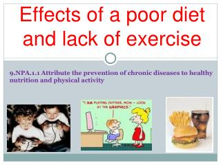 Effects of a poor diet and lack of exercise