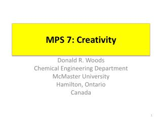 MPS 7: Creativity