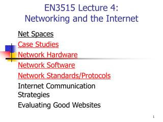 EN3515 Lecture 4: Networking and the Internet