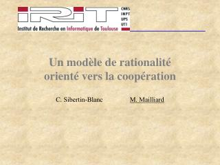 Un mod le de rationalit   orient  vers la coop ration