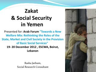 Zakat & Social Security  in Yemen