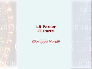 LR Parser II Parte