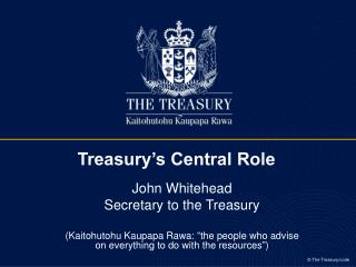 Treasury's Central Role