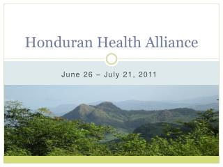 Honduran Health Alliance