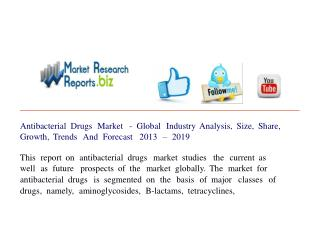 Antibacterial Drugs Market - Global Industry Analysis, Size,