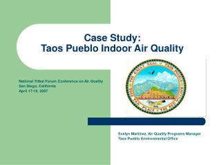 Case Study: Taos Pueblo Indoor Air Quality