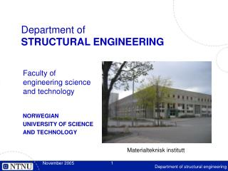 Department of STRUCTURAL ENGINEERING