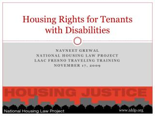 Housing Rights for Tenants with Disabilities