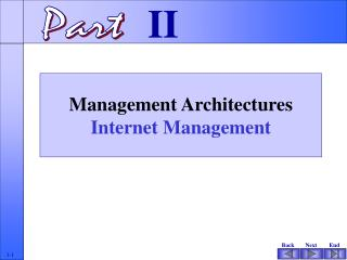 Management Architectures  Internet Management