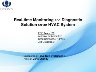 Real-time Monitoring  and  Diagnostic Solution  for an  HVAC System