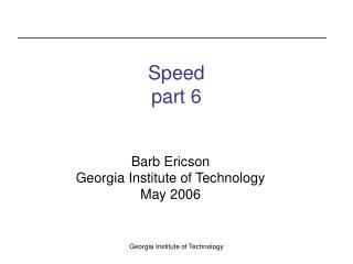 Speed part 6