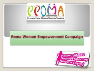 Roma Women Empowerment Campaign