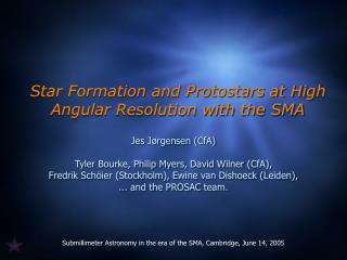 Star Formation and Protostars at High Angular Resolution with the SMA