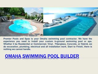 Swimming Pool Installer