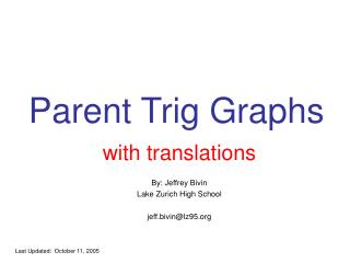 Parent Trig Graphs
