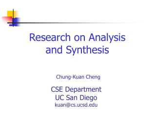 Research on Analysis and Synthesis