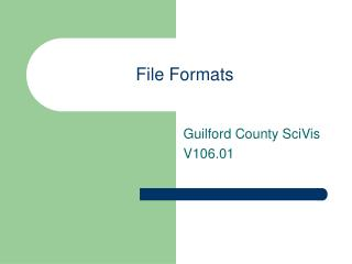 File Formats