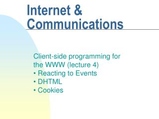Internet & Communications