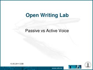 Open Writing Lab