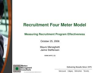 Recruitment Four Meter Model  Measuring Recruitment Program Effectiveness