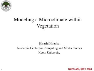 Modeling a Microclimate within Vegetation