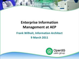 Enterprise Information Management at AEP