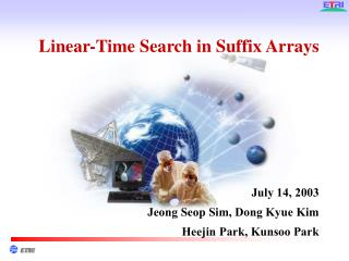Linear-Time Search in Suffix Arrays