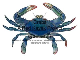 Crabs A  Red Kayak  Project