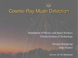 Cosmic Ray Muon Detection