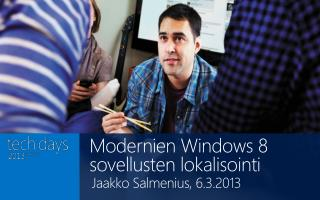 Modernien Windows 8 sovellusten lokalisointi
