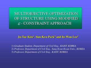 MULTIOBJECTIVE OPTIMIZATION OF STRUCTURE USING MODIFIED - CONSTRAINT APPROACH