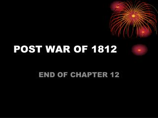 POST WAR OF 1812