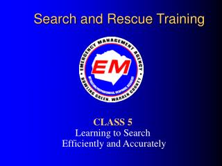 Search and Rescue Training