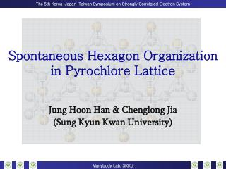 Spontaneous Hexagon Organization in Pyrochlore Lattice