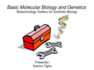 Biotechnology Toolbox for Synthetic Biology