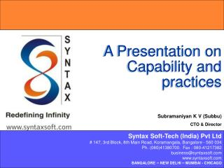 A Presentation on Capability and practices