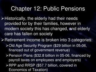 Chapter 12: Public Pensions