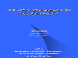 The Role of River Vegetation Roughness for Water Purrification in Dniester River
