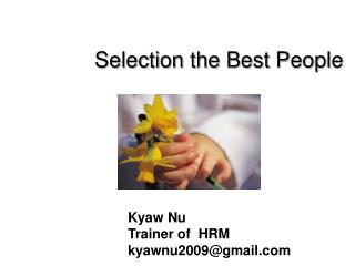 Selection the Best People