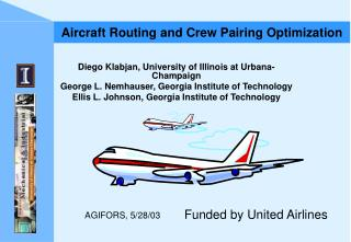 Aircraft Routing and Crew Pairing Optimization
