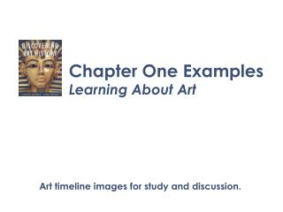Chapter One Examples Learning About Art