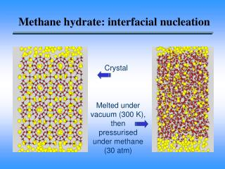 Methane hydrate: interfacial nucleation