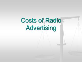 Costs of Radio Advertising