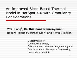 An Improved Block-Based Thermal Model in HotSpot 4.0 with Granularity Considerations
