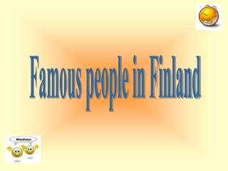 Famous people in Finland