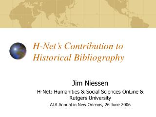 H-Net's Contribution to Historical Bibliography