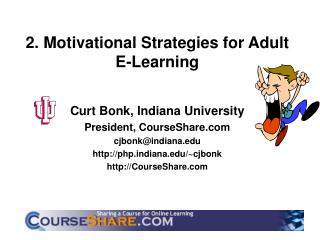 2. Motivational Strategies for Adult E-Learning