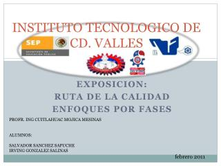 INSTITUTO TECNOLOGICO DE CD. VALLES